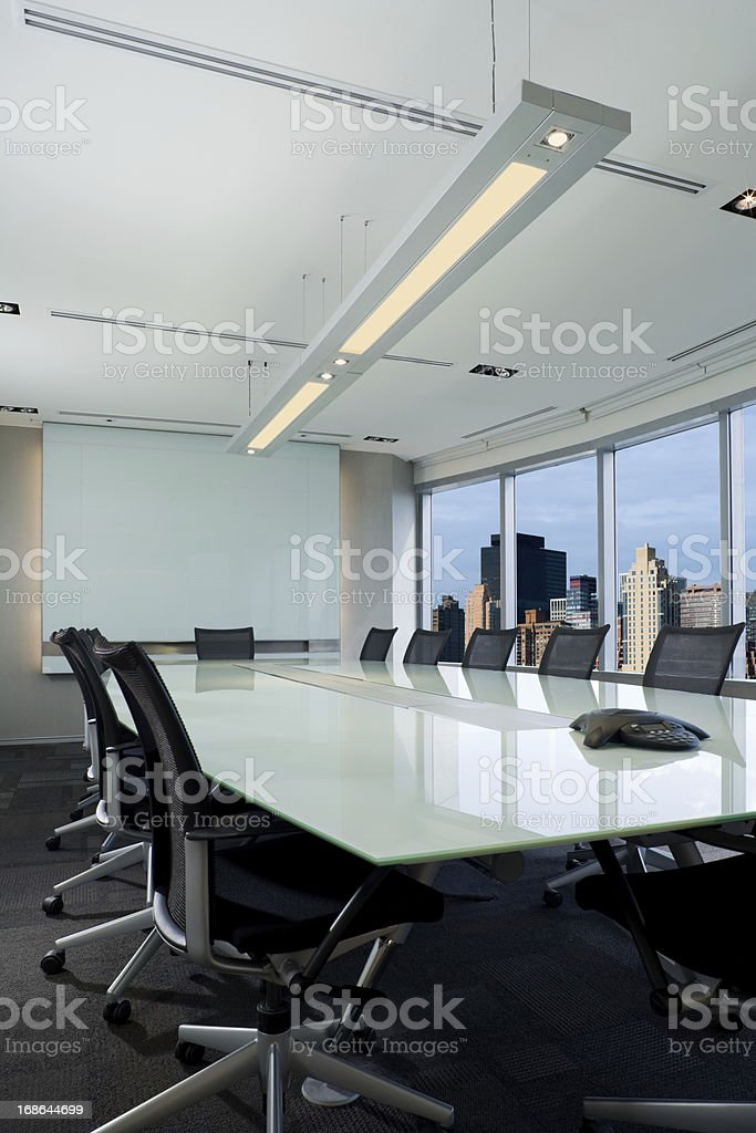Modern Office Board Room stock photo