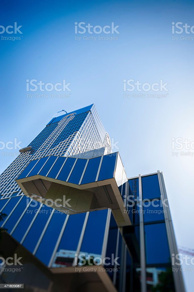 Modern office building against blue sky royalty-free stock photo
