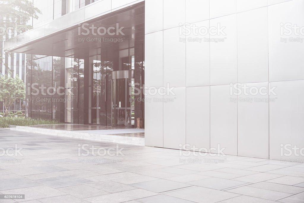 Modern office building door stock photo