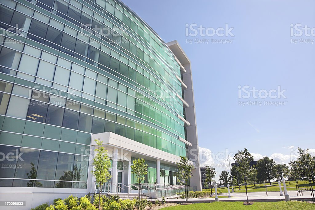 Modern Office Building Entrance stock photo