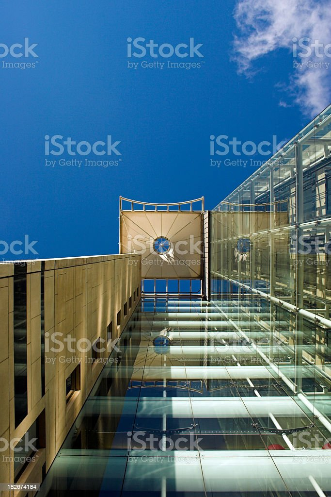 Modern office building entrance royalty-free stock photo