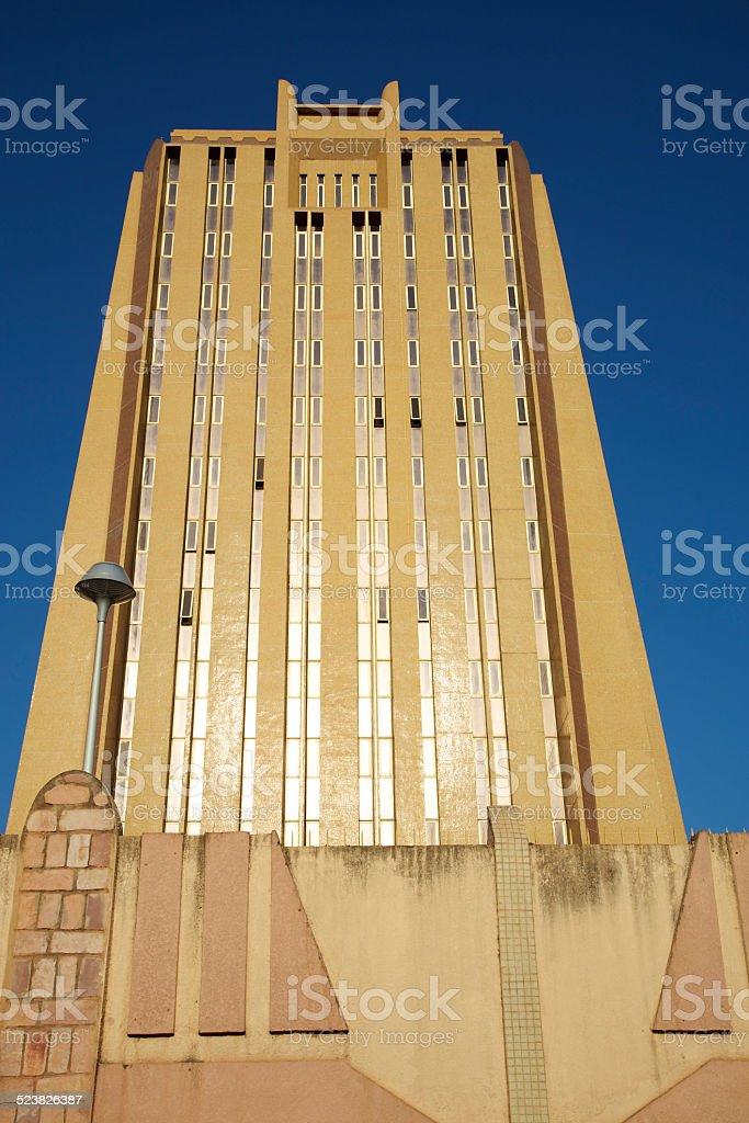 Modern Office Building Facade in Bamako stock photo
