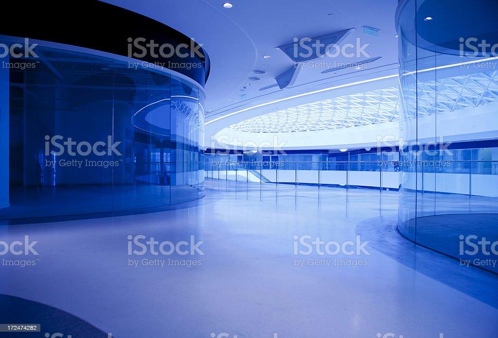 modern office building hallway royalty-free stock photo