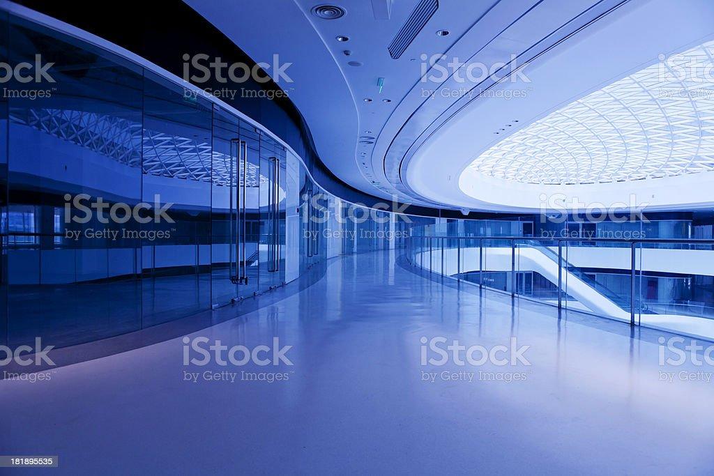 modern office building hallway stock photo