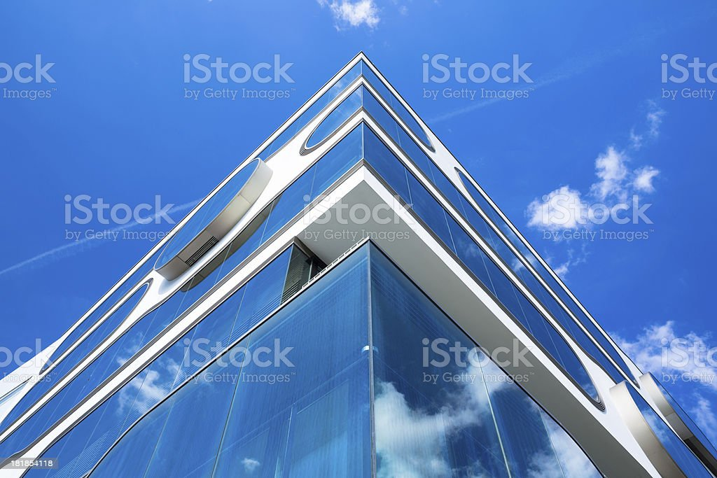 Modern office building in detail stock photo