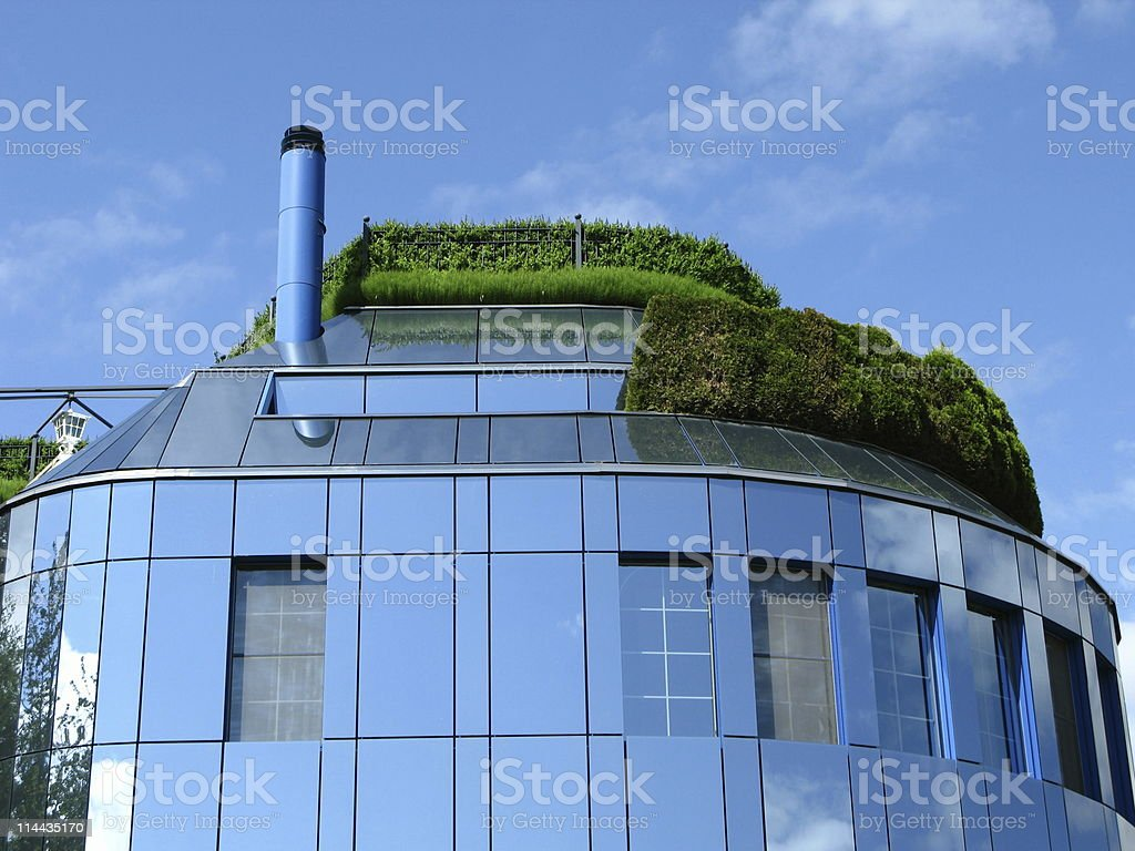 Modern office building in Switzerland stock photo