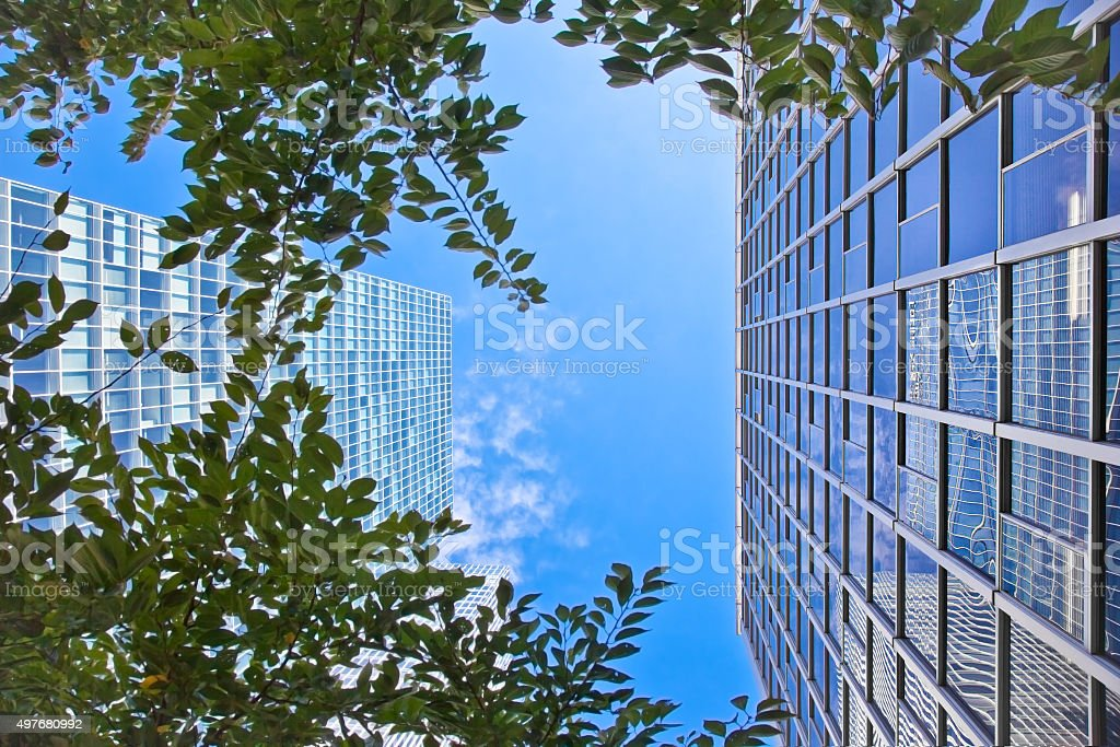 Modern office building in Tokyo, Japan. stock photo