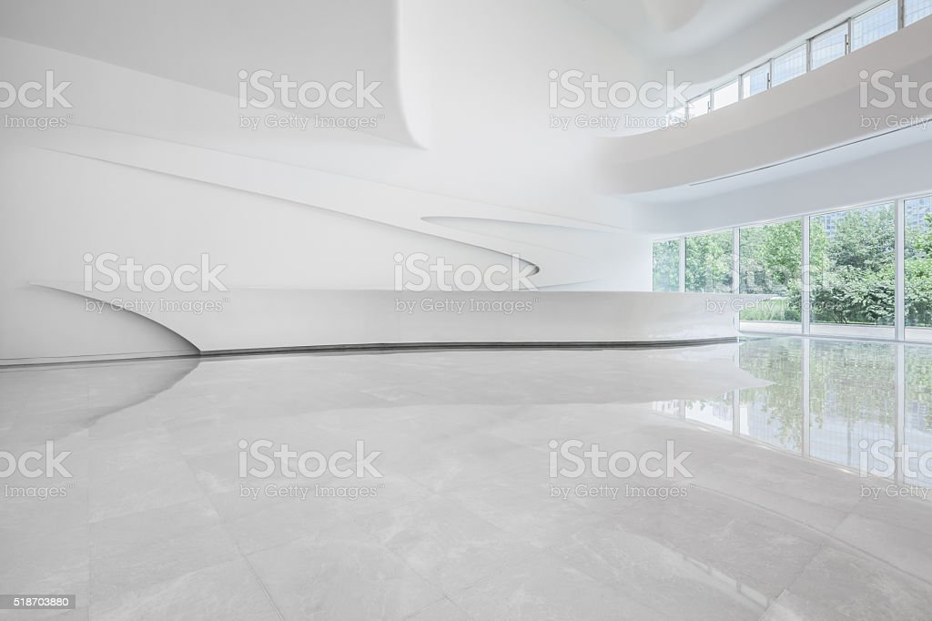 Modern office building interior stock photo
