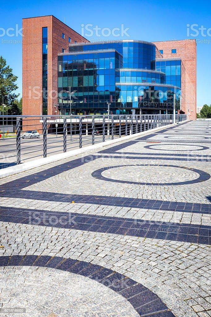 Modern office building, Katowice, Poland stock photo