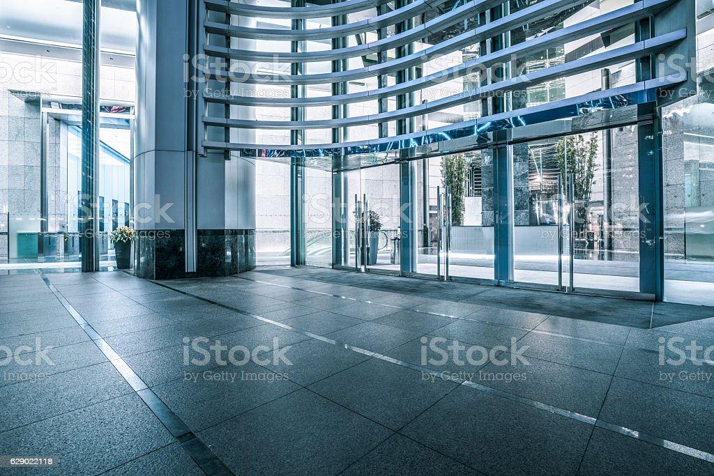 modern office building lobby stock photo
