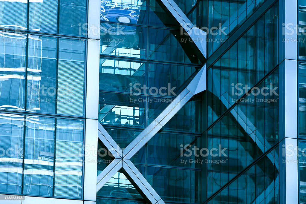 Modern office building, London, England royalty-free stock photo