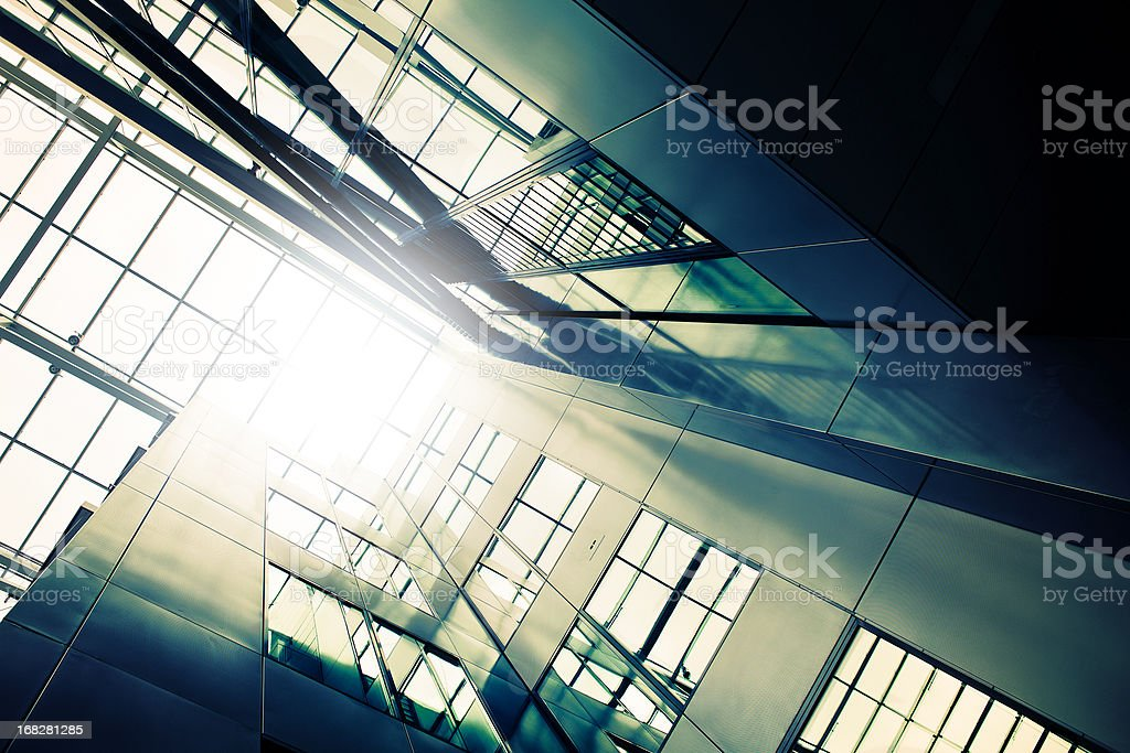 Modern office building, low-angle view royalty-free stock photo