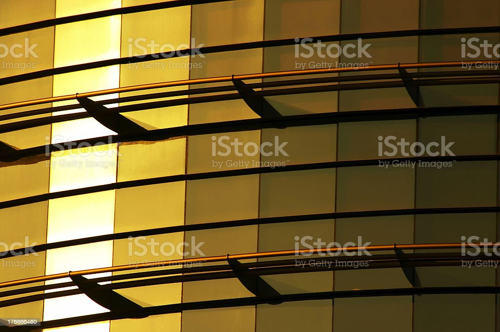 modern office building of glass gold royalty-free stock photo