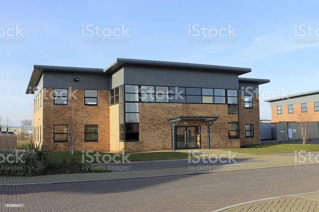 Modern office building to let stock photo