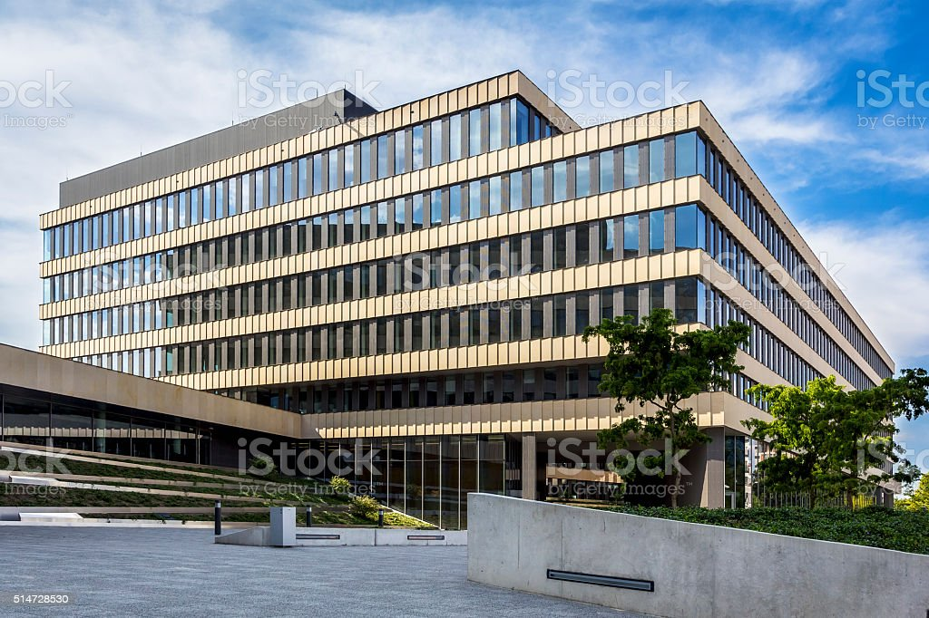 Modern office building, Warsaw, Poland stock photo