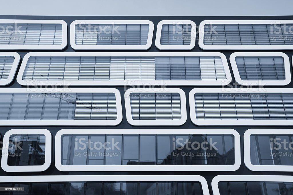 Modern office building windows horizontal format royalty-free stock photo