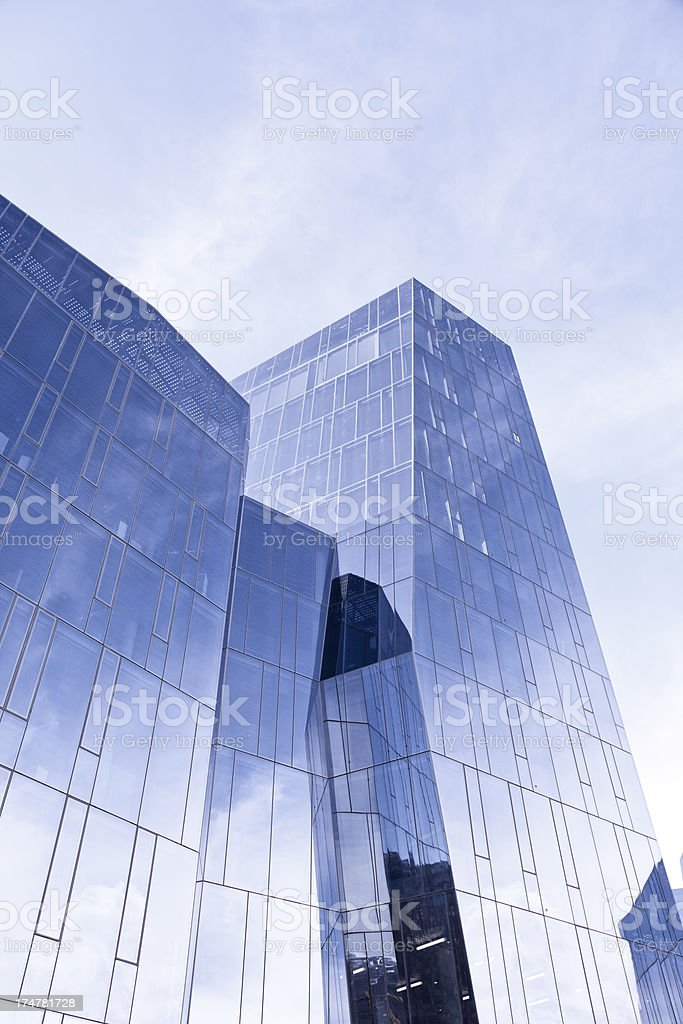 modern office building with glass architecture royalty-free stock photo