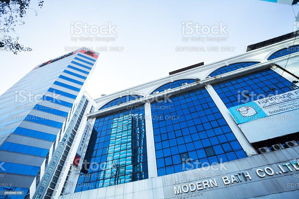 Modern office buildings in Bangkok stock photo