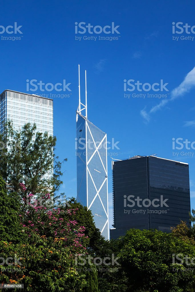 Modern office buildings in Central Hong Kong stock photo