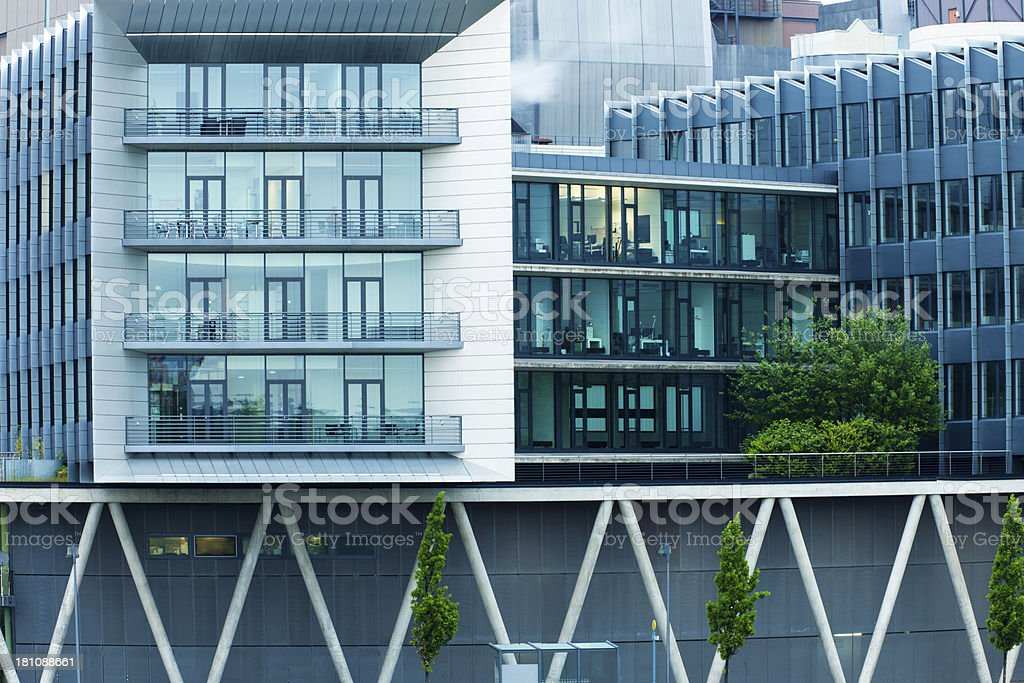 Modern Office Buildings in Frankfurt Gutleutviertel, Germany royalty-free stock photo