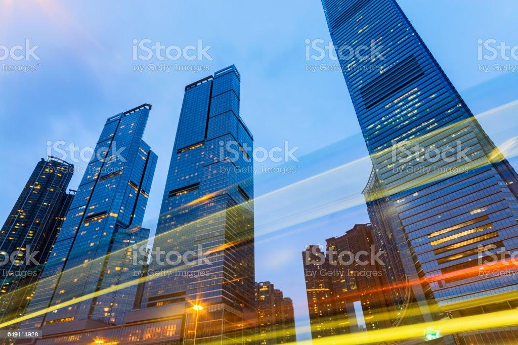 Modern Office Buildings in Hong Kong. stock photo