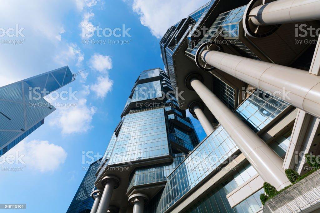 Modern Office Buildings in Hong Kong stock photo