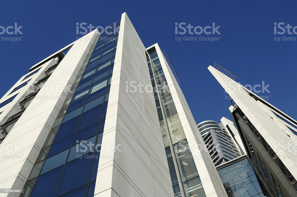 Modern Office Buildings in Leeds royalty-free stock photo