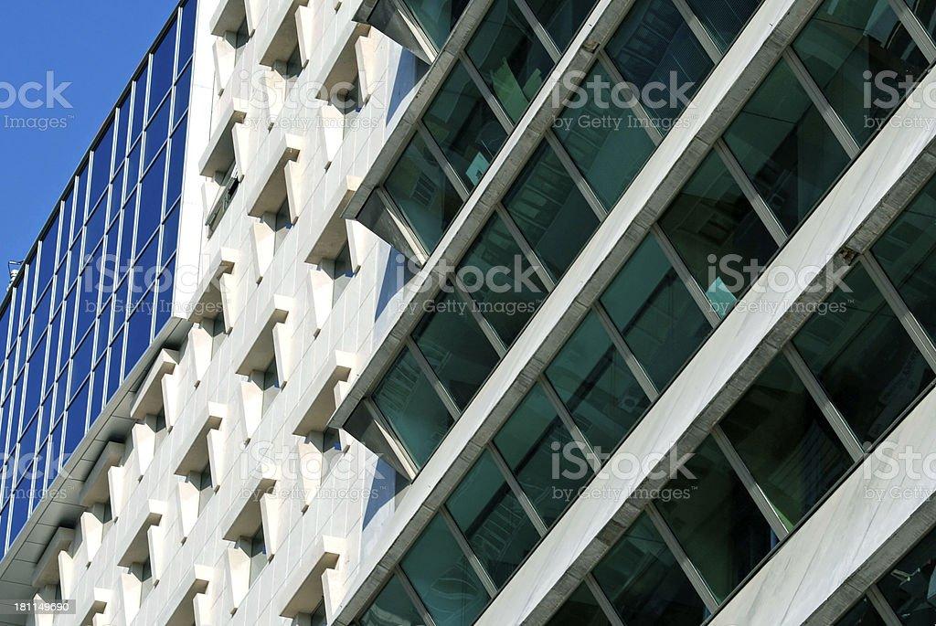Modern office buildings in Lisbon royalty-free stock photo