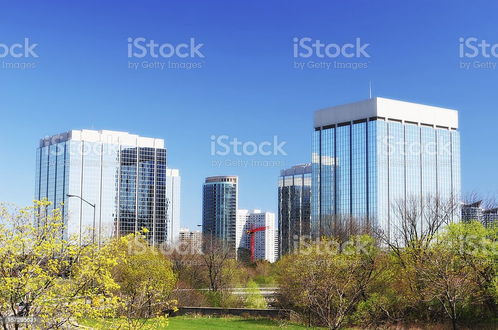 Modern Office Buildings in Mississauga stock photo