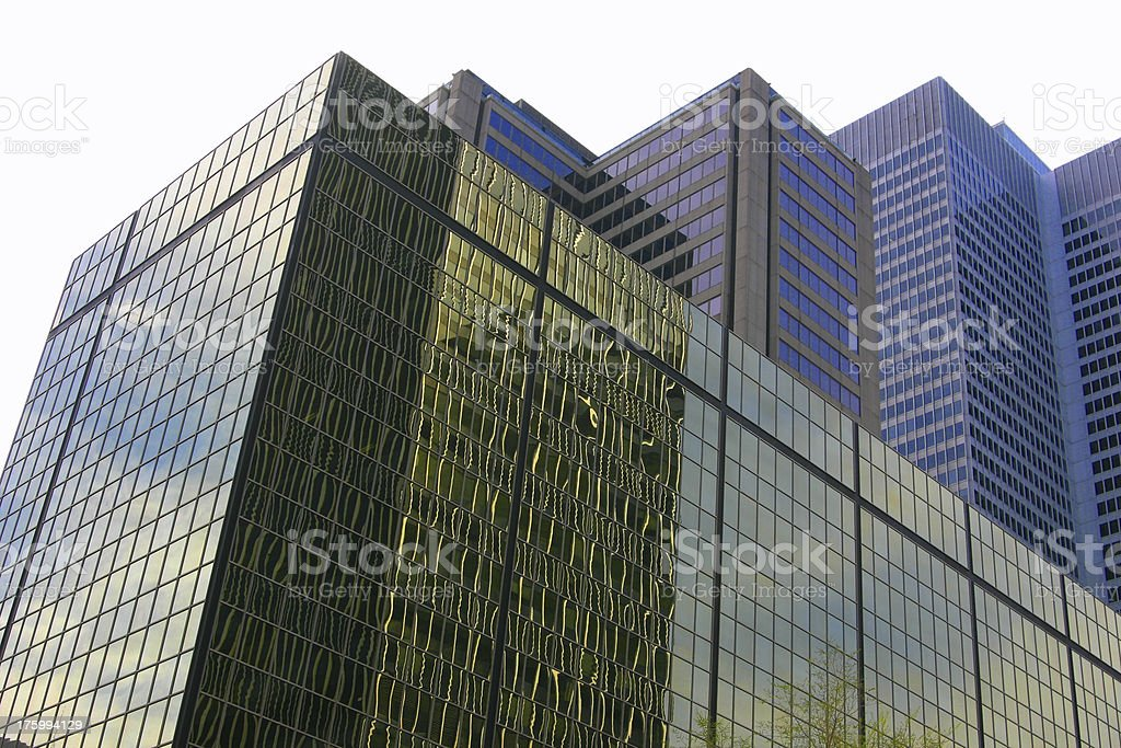 Modern Office Buildings isolated on white background royalty-free stock photo