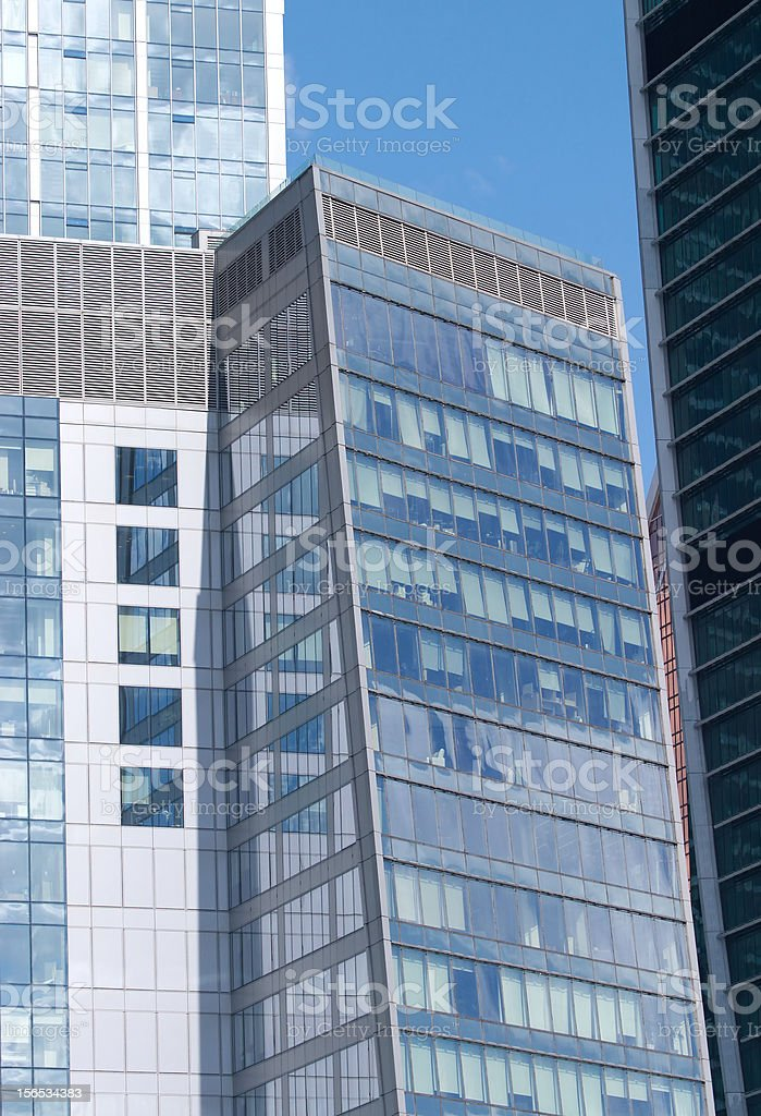 Modern office buildings on a city closeup royalty-free stock photo