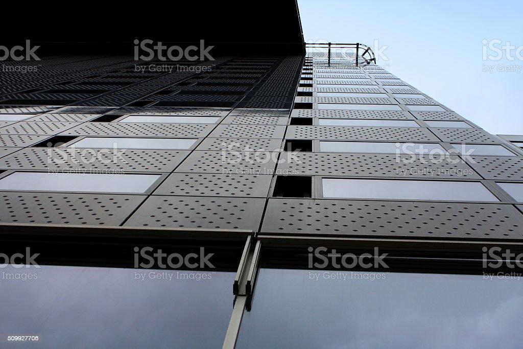 Modern office buliding with blue sky stock photo