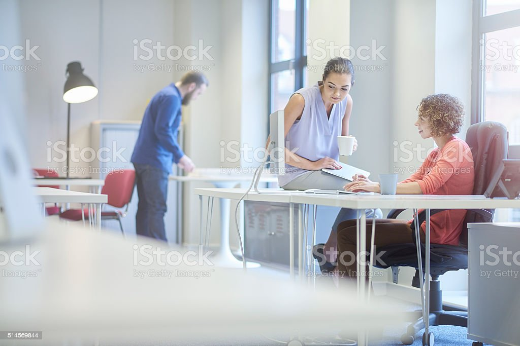modern office collaboration stock photo