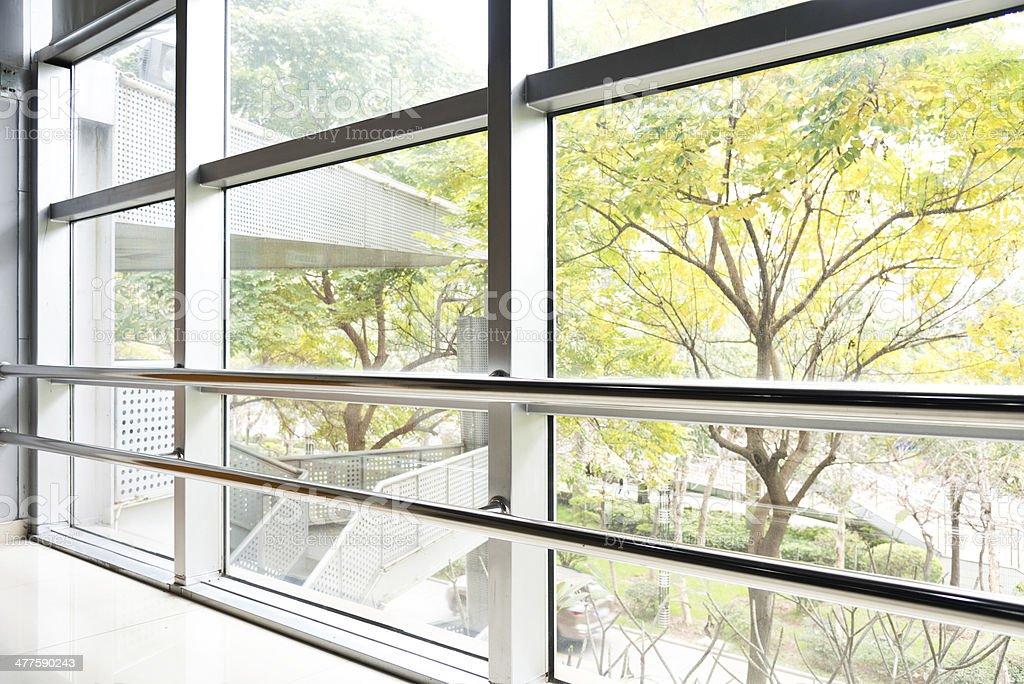 Modern office corridor royalty-free stock photo