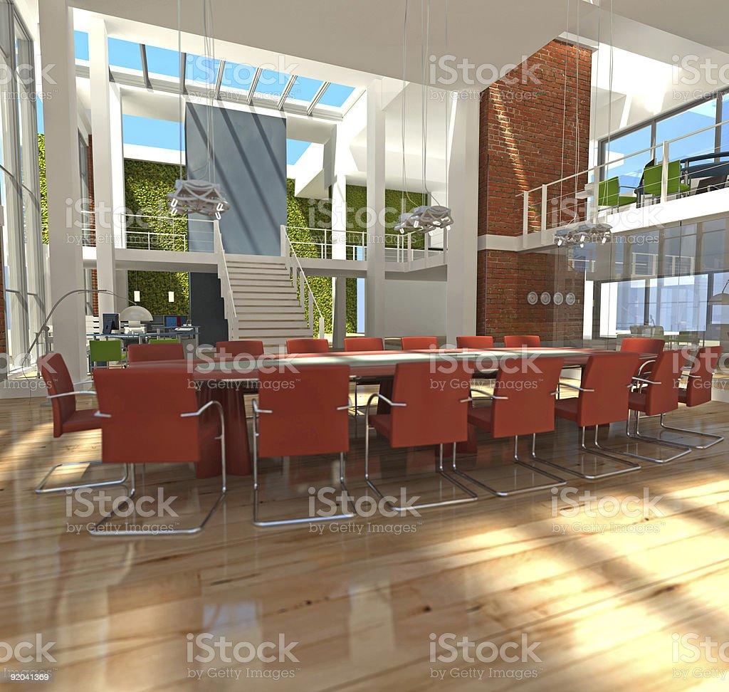 Modern office design in the sun stock photo