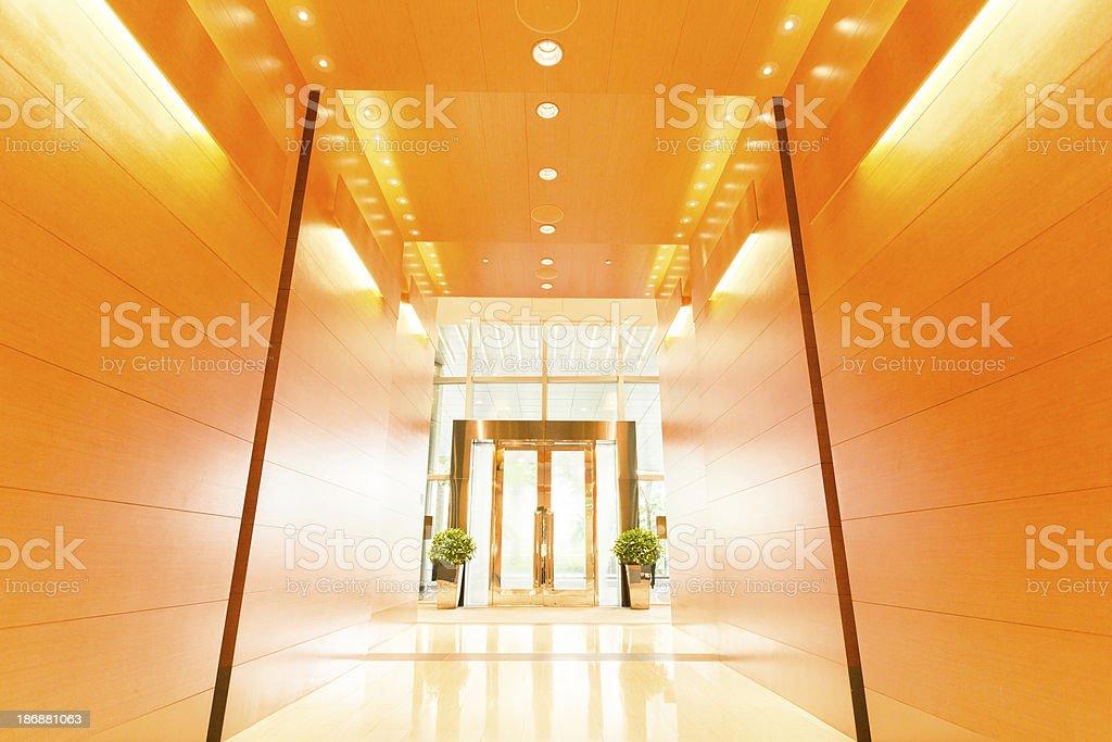Modern Office Entrance stock photo