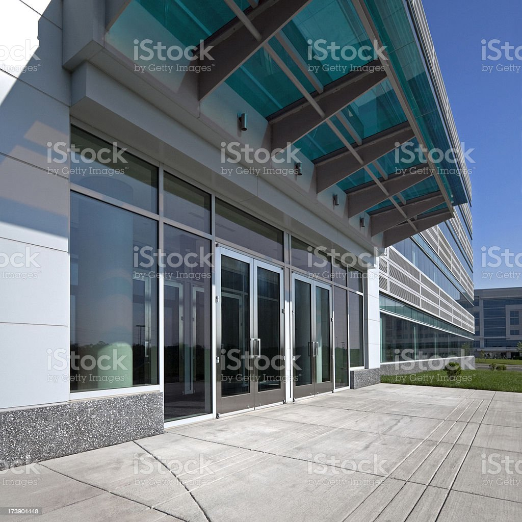 Modern office front entrance royalty-free stock photo