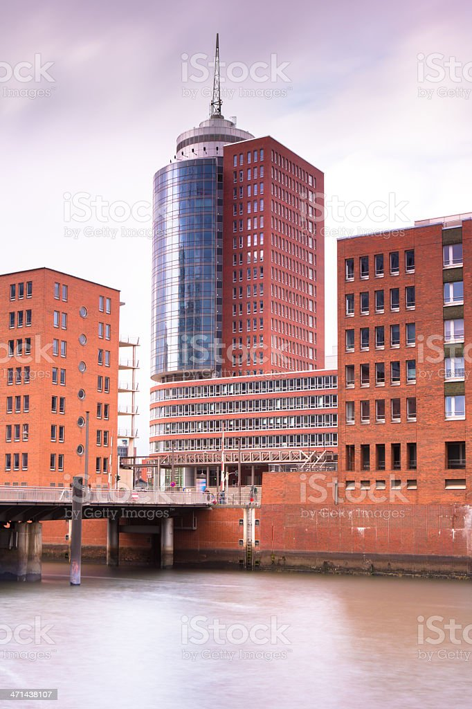 Modern office in the HafenCity stock photo