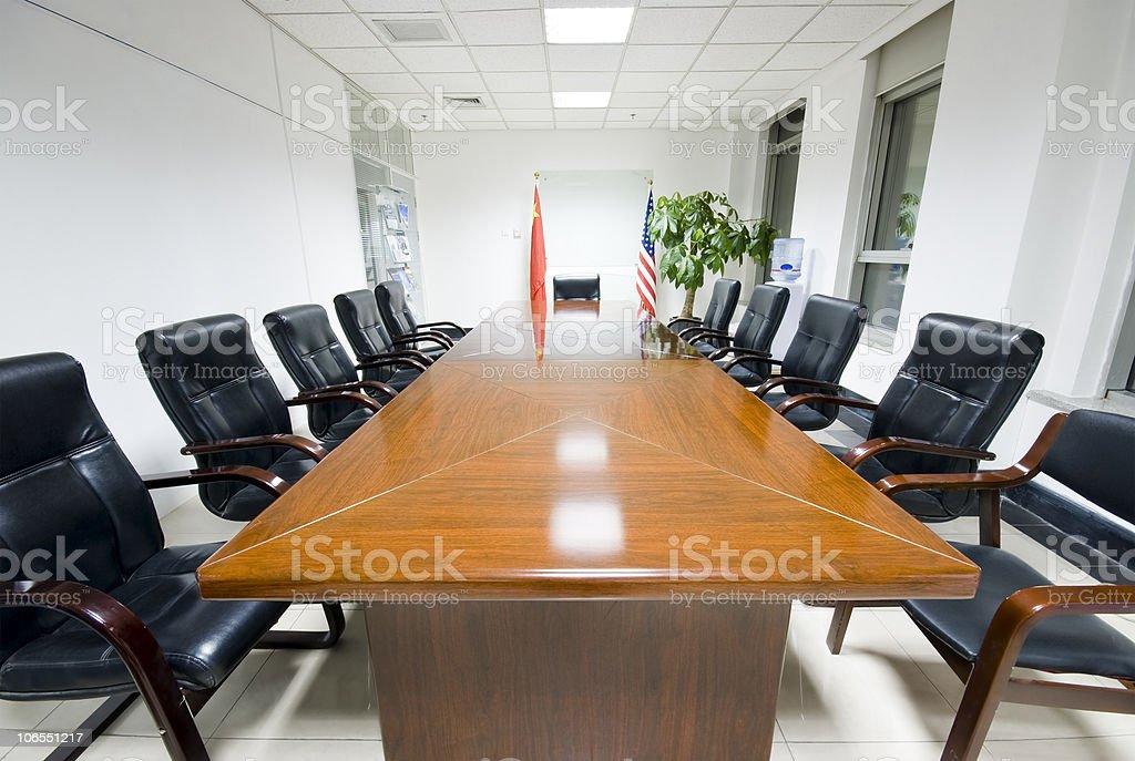 Modern office interior Boardroom stock photo