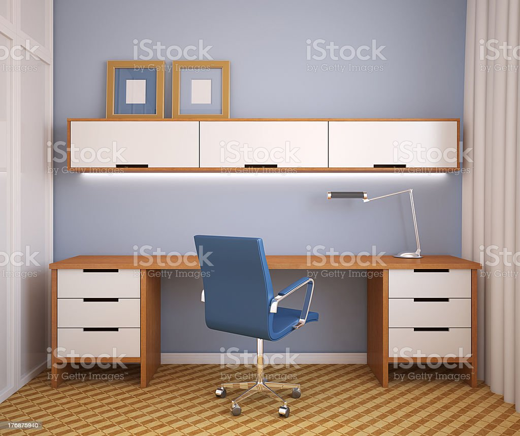 Modern office interior. royalty-free stock photo