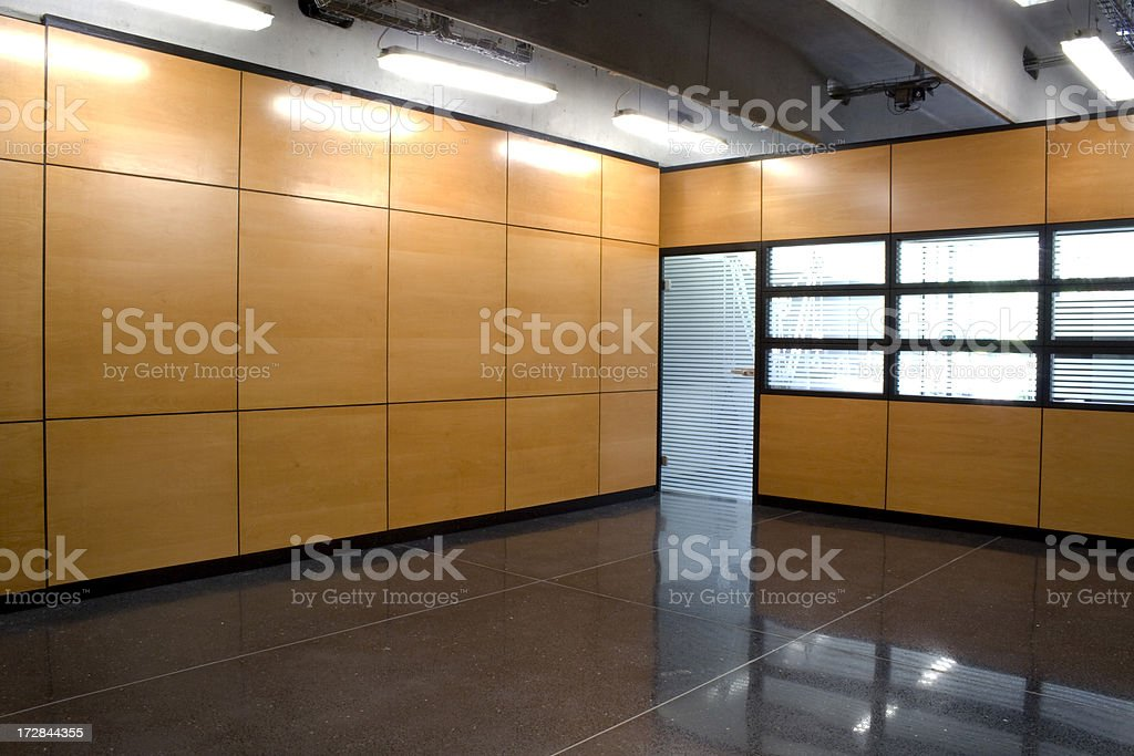 Modern office interior with door and Windows royalty-free stock photo