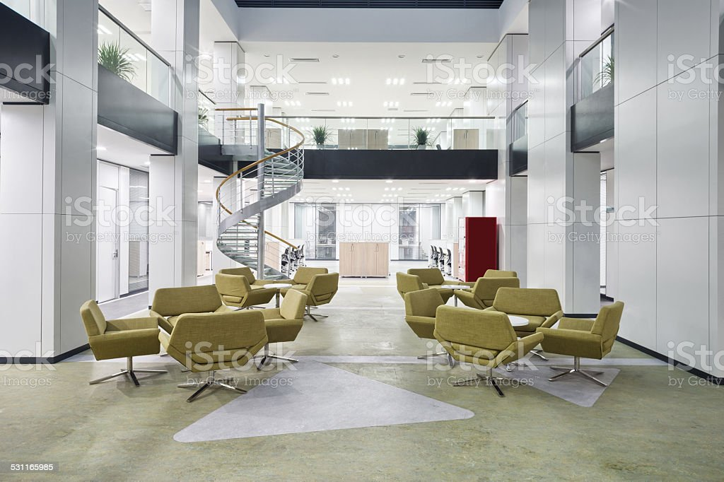 modern office lobby hall interior stock photo