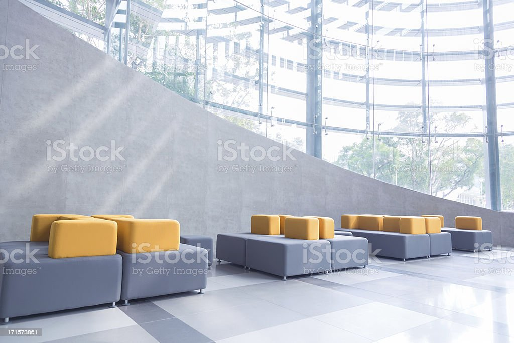 Modern Office Lobby stock photo