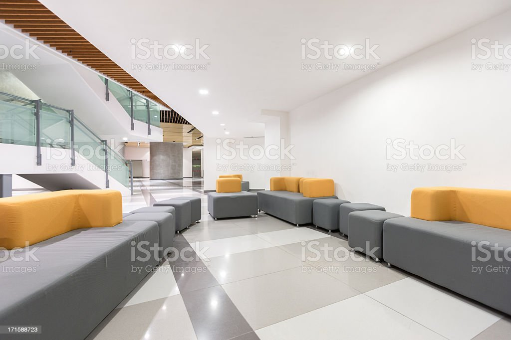 Modern Office Lobby royalty-free stock photo