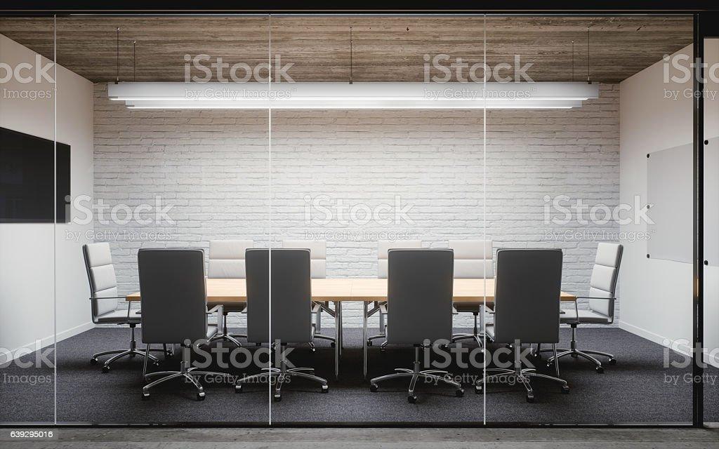 Modern Office Meeting Room Interior stock photo