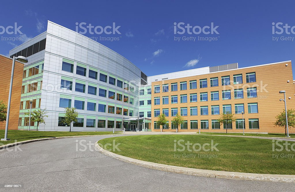 Modern Office Park Building Exterior stock photo