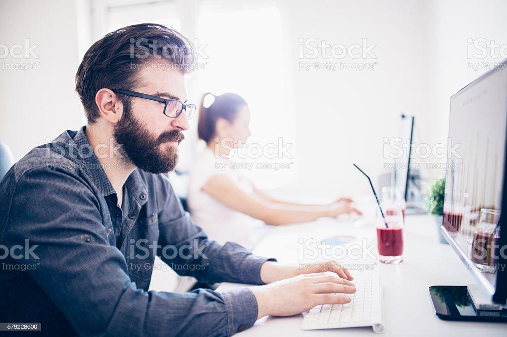Modern office people stock photo
