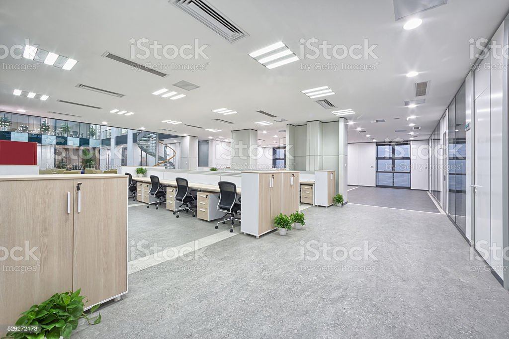 modern office room interior stock photo