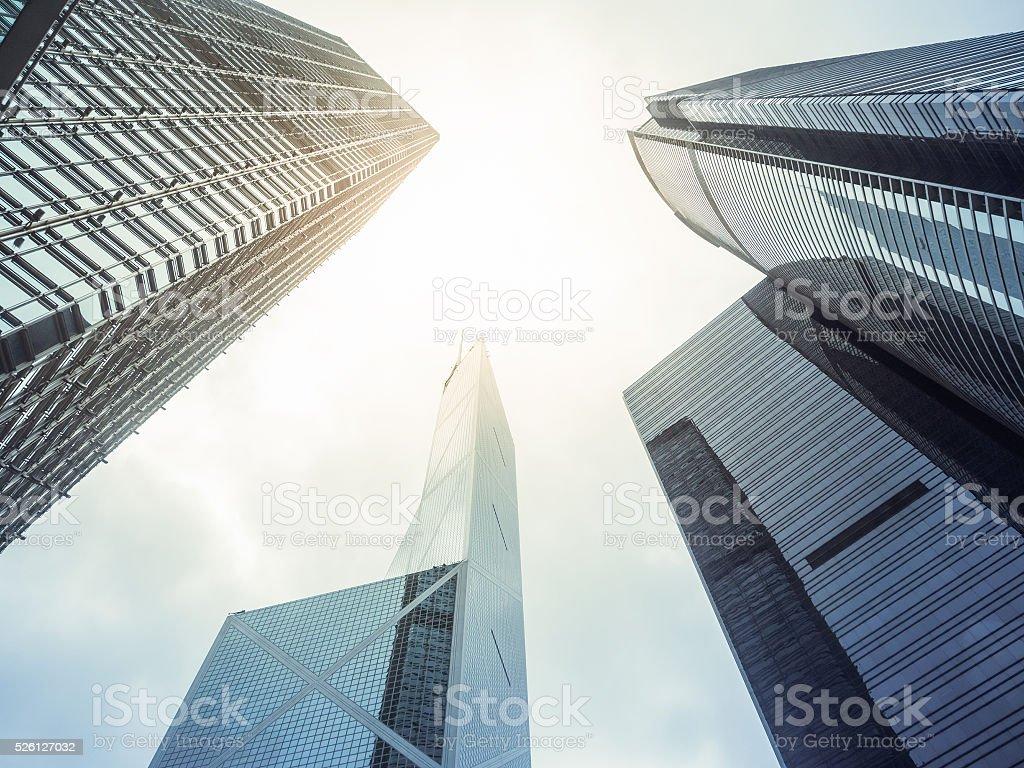 Modern office skyscarper buildings stock photo