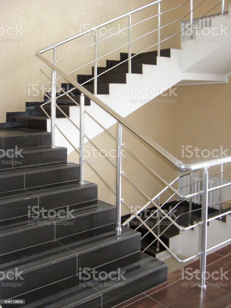 modern office stairs stock photo